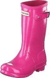 Hunter Original Kids Glitter Finish Fuchsia