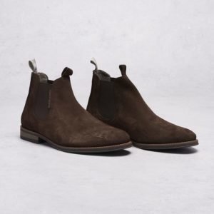 Hush Puppies Richard Chelsea Suede Brown