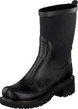 Ilse Jacobsen Rubber Boot With Neoprene Shaft Black