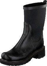 Ilse Jacobsen Rubber Boot With Neoprene Shaft Black