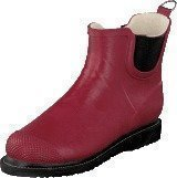 Ilse Jacobsen Short Rubberboot Flat Sole Wine