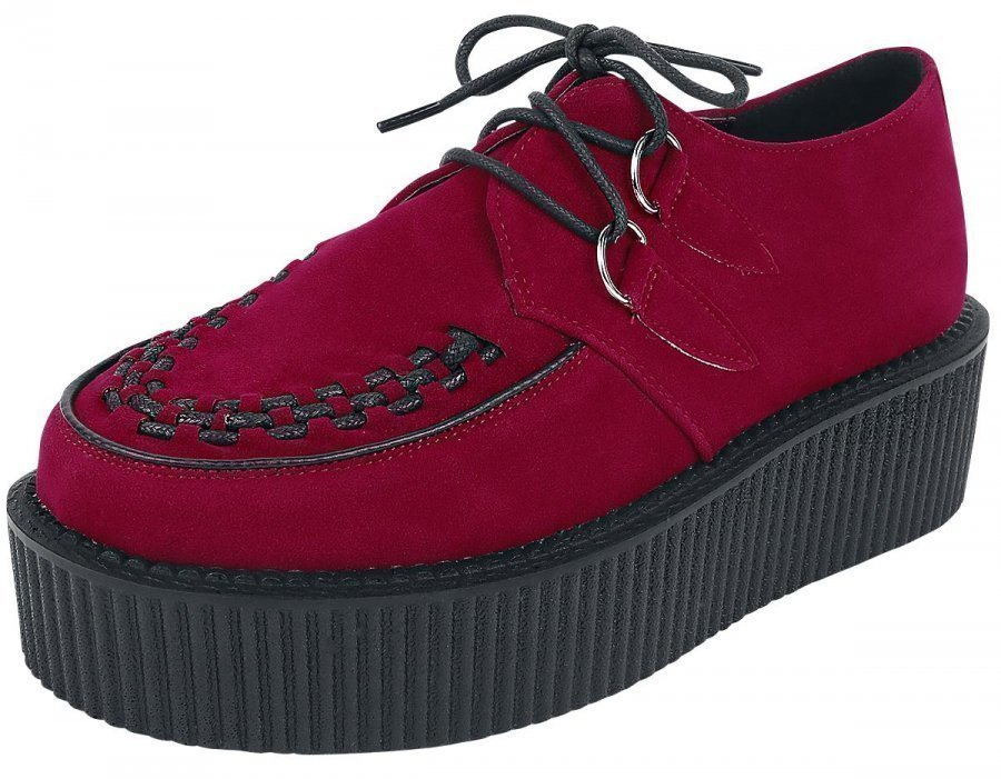 Industrial Punk Creepers Bordeaux Creepers-kengät