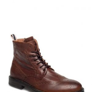 Jack & Jones Jfwhugh Leather Brogue Boot Cognac