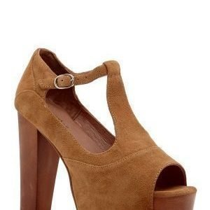 Jeffrey Campbell Foxy WD Shoes 250 Camel Suede