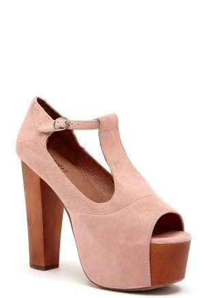 Jeffrey Campbell Foxy WD Shoes 268 Pink Suede