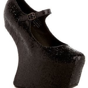 Jeffrey Campbell Night-walk Shoes Musta glitteri