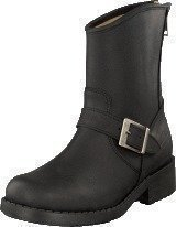 Johnny Bulls Low Boot Zip Back Black/Silver