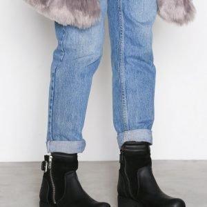 Johnny Bulls Suede Detail Zip Boot Bootsit Musta