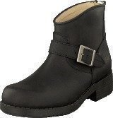 Johnny Bulls Very Low Boot Zip Back Black/Silver