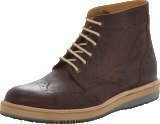 Knowledge Cotton Apparel British Brogue Ancle Boot Buffalo Brown