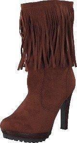 Lady Cg Kansas Long Fringe Boot Brown