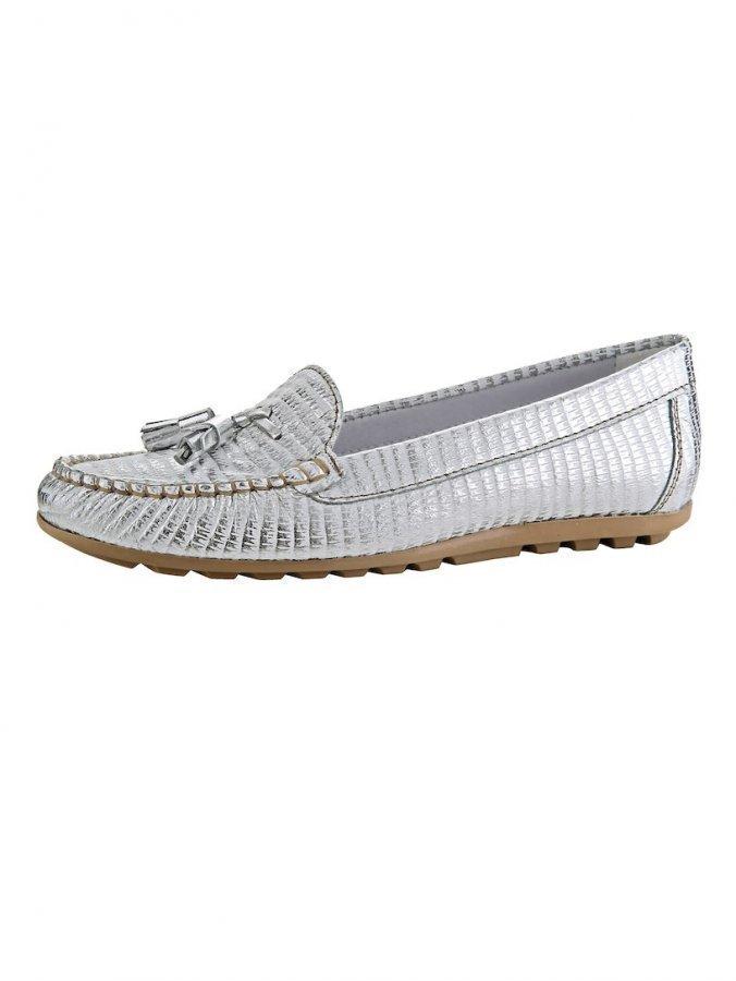 Loaferit Hopeanvärinen / Valkoinen