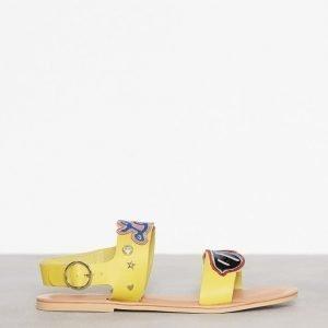 Love Moschino Flat Sandal Sandaalit Keltainen