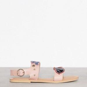 Love Moschino Flat Sandal Sandaalit Vaaleanpunainen