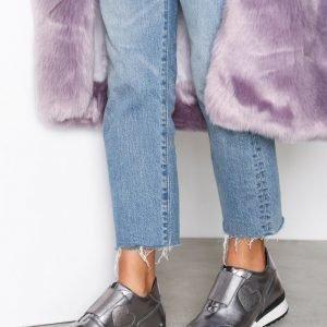 Love Moschino Silver Sneakers Tennarit Hopea
