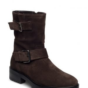 Mango Buckles Leather Boots