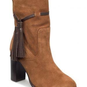 Mango Leather Tassels Boots