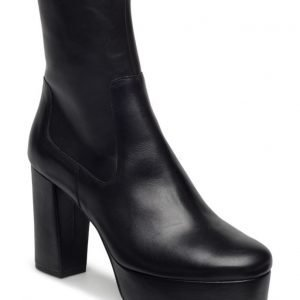 Mango Platform Leather Ankle Boots