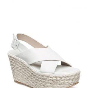 Mango Premium Platform Leather Sandals