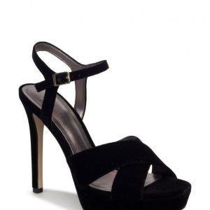 Mango Velvet Heel Sandals