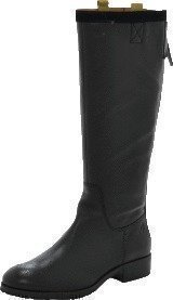 Marc O Polo Flat Heel Long Boot Milled Calf/Suede Black