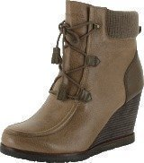 Marc O Polo Wedge Bootie Oily Calf Printed Taupe