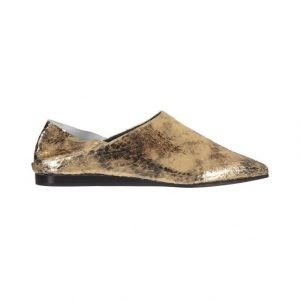 McQ Alexander McQueen Liberty Fold Metallic Foil Crackle Leather Kengät