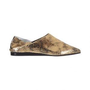 McQ Alexander McQueen Liberty Fold Metallic Foil Crackle Leather Kengät