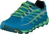 Merrell Allout Peak Racer Blue/Bright Green