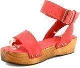 Minimarket Plateau Buckles Sandal Leather Bright Pink