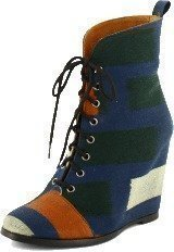Minimarket Wedge Boot Ikat Cotton Fabrik Multi