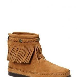 Minnetonka Hi Top Back Zip Boot