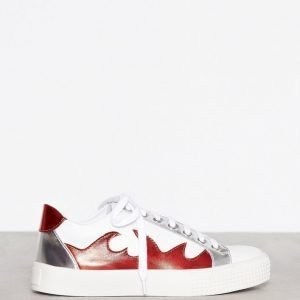 Missguided Flame Print Trainer Tennarit White