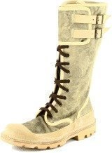 Moma Military boots Grey textile