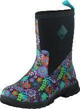 Muckboot Breezy Mid Black/Flowers