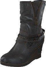 Mustang 1083508 Women's Wedge Boot Dark Grey