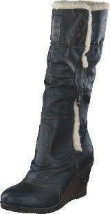 Mustang 1083601 W Wedge High Boot Graphite