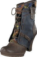 Mustang 1107507 Women's Bootie Brown/Blue