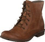 Mustang 1157534 Women's Lace-Up Bootie Cognac