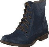 Mustang 1157534 Women's Lace-Up Bootie Dark Blue