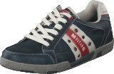 Mustang 4007317 Men's Lace-Up Shoe Black/ Red