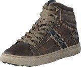 Mustang 4108502 Men's High Top Sneaker Brown