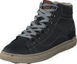 Mustang 4108601 Men's High Top Sneaker Black