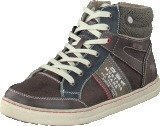 Mustang 5033504 Youth High Top Sneaker Dark Brown