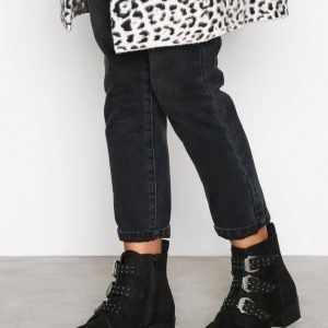 New Look Bambi 3 Buckle Stud Bootsit Black