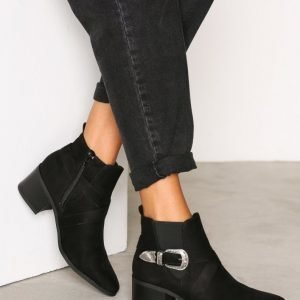 New Look Buckle Western Ankle Boot Bootsit Black