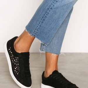 New Look Embellished Lace Up Tennarit Black