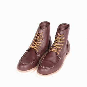 New Look Hi Wedge Hiker Boot Varsikengät Wine