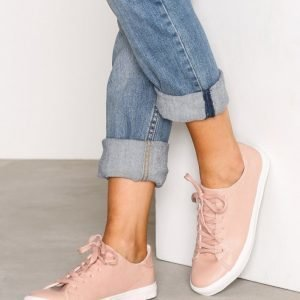 New Look Lace Up Contrast Sole Trainers Tennarit Pink