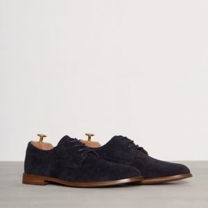 New Look Musta Suedette Lace Up Shoes Pukukengät Navy